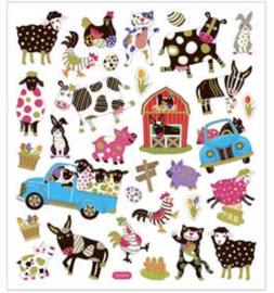 Stickers vel 15x16 5 cm circa 34 stuk dieren 1vel-C-Diverse kleuren