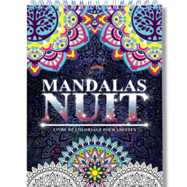 Kleurboek voor volwassenen 30 afb. Mandala's Nuit - Black