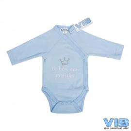 Boys Romper Ik Ben een Prinsje-VIB-Licht blue