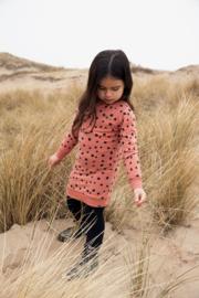 Koko Noko-Girls Nathalie dress ls Bio Cotton-Dusty Pink + aop