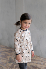 The New Chapter-Baby Girls Sweat dress with flower of hope aop-Flower of hope AOP