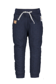 Baby boys dotted sweat pants- B.Nosy-bear ink blue