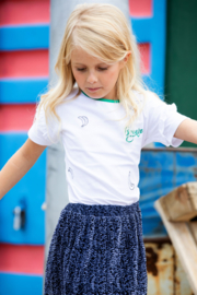 B.Nosy-Girls shirt with ruffle on sleeves, front embroidery-Snow white