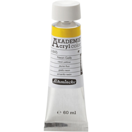 Acryl color-neon yellow (845), semi-opaque, 60ml-Schmincke AKADEMIE