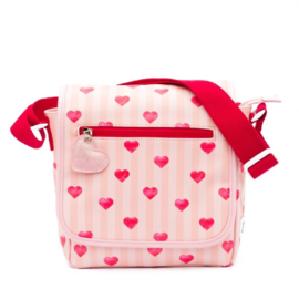 Zebra-Kinder Girls Flaptasje - Stripes & Hearts-Rose