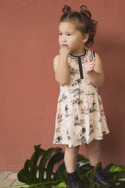 Girls Dress- Koko Noko-Blush + aop