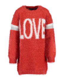 Blue Seven-Kids Girls knitted Dress-Red