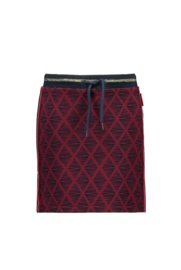 Bampidano-Junior Girls sweat skirt Bade allover print with rib waist VOILA-Bordeaux aop