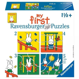 Ravensburger Nijntje in de speeltuin 4 in a box: 2,3,4,5 stukjes- C- Multi Color