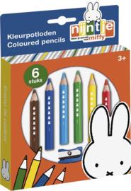 Nijntje houten kleurpotloden set (incl. slijper)-B-Multi Color
