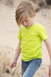 Koko Noko-Boys Nigel T-shirt ss Bio Cotton-Neon yellow