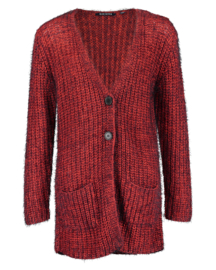 Blue Seven-Girls knitted Cardigan-High red orig