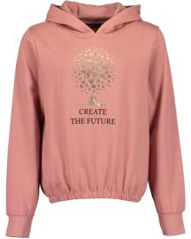 Blue Seven-Girls  knitted sweatshirt-Mauve orig