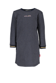 Baby Girls striped sweat dress Bernice SWEET-Bampidano-Stripe navy