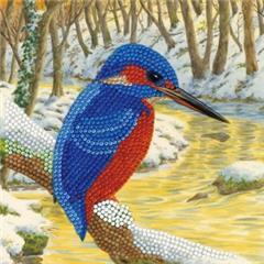 Craft Buddy- Card Kit-Diamond Painting Kingfisher- Multi Color