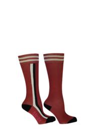 B.Nosy-Girls B.You socks with vertical stripe-brique