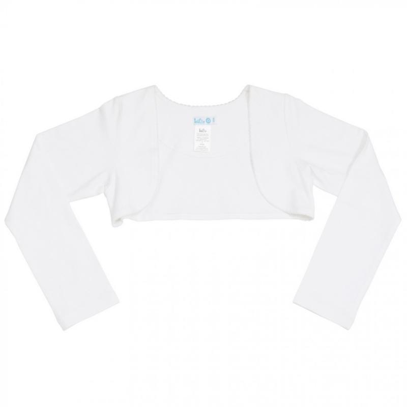 Girls Basic Bolero- LoFff- White