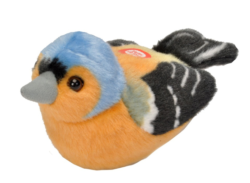Trendzz-Vogels met geluid-Vink-Chaffinch- Orange