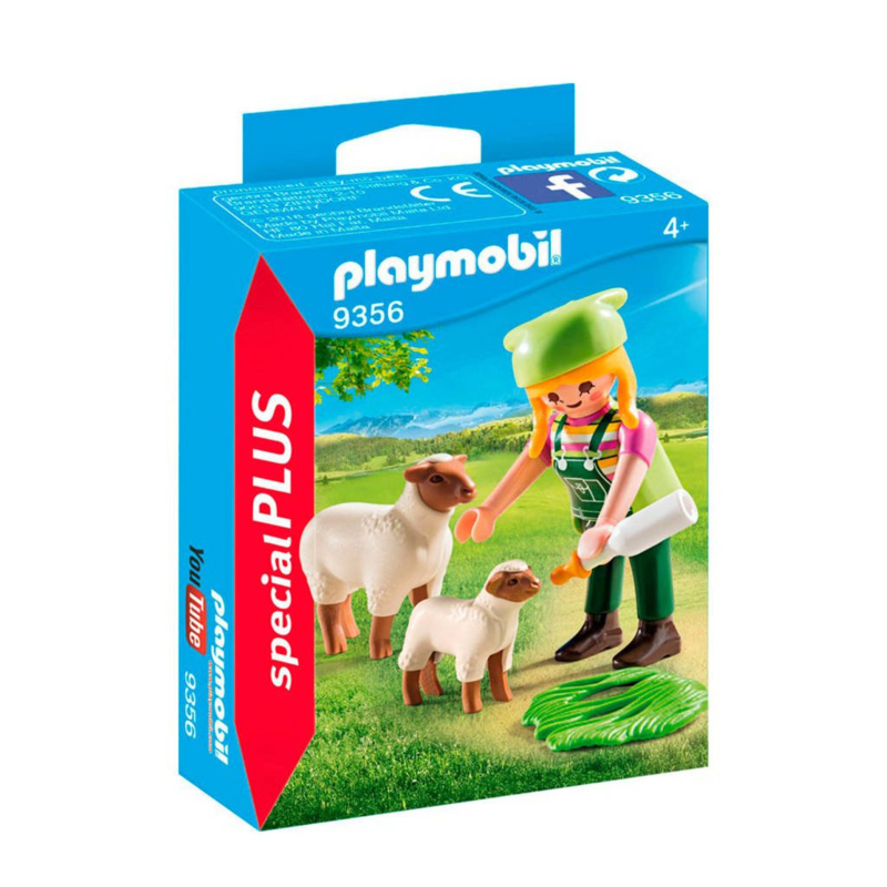 C.W. -Playmobil Special Plus- Schapenhoedster- 9356-Multi Color