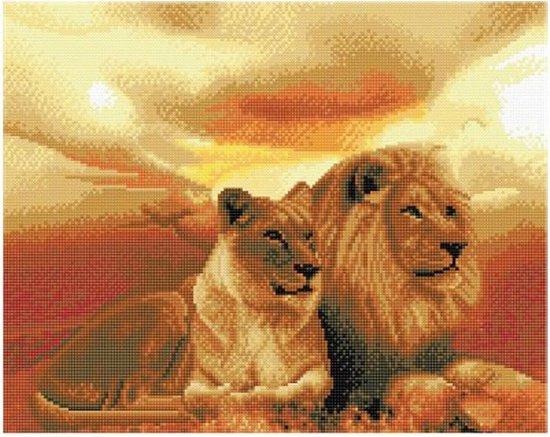 Craft Buddy- Art Kit-Diamand Painting -Lions of the Savanna- Multi Color