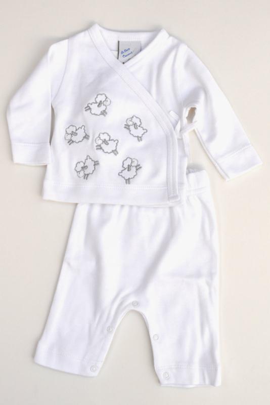 LPC-Baby Unisex pre 2pce Babysuit Sheep- White