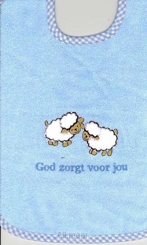 CBC-Jongens Slab schaapjes God zorgt voor jou-Blue