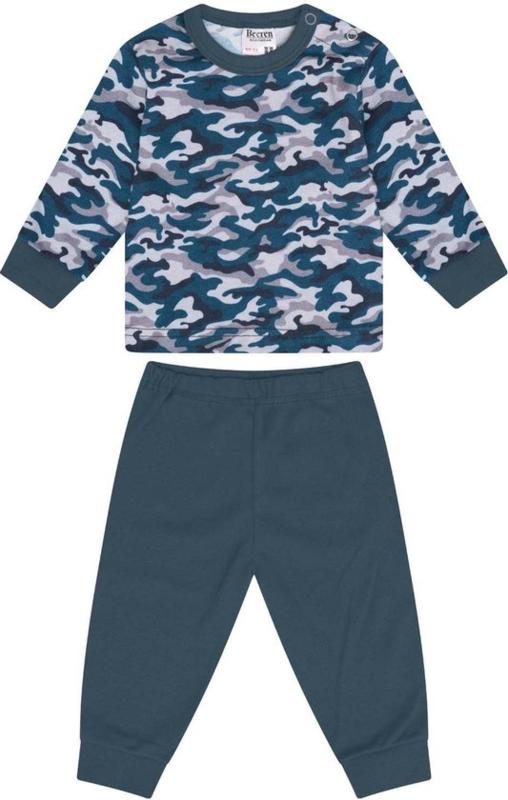 Beeren-LPC-Baby Boys Pyjama Camouflage-Petrol