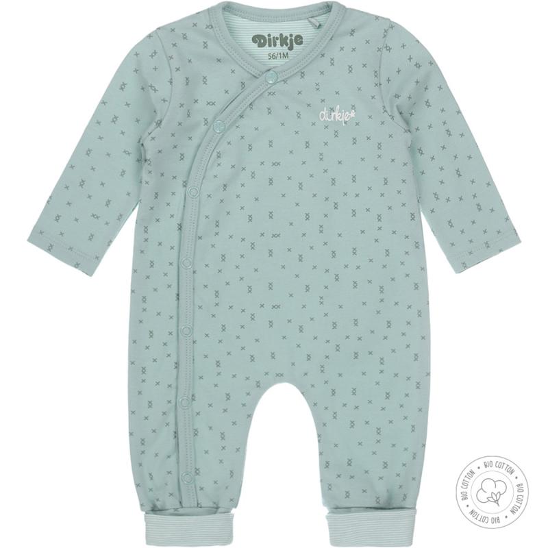 Dirkje-Baby Unisex 1 pce Babysuit Bio Cotton-Aqua green