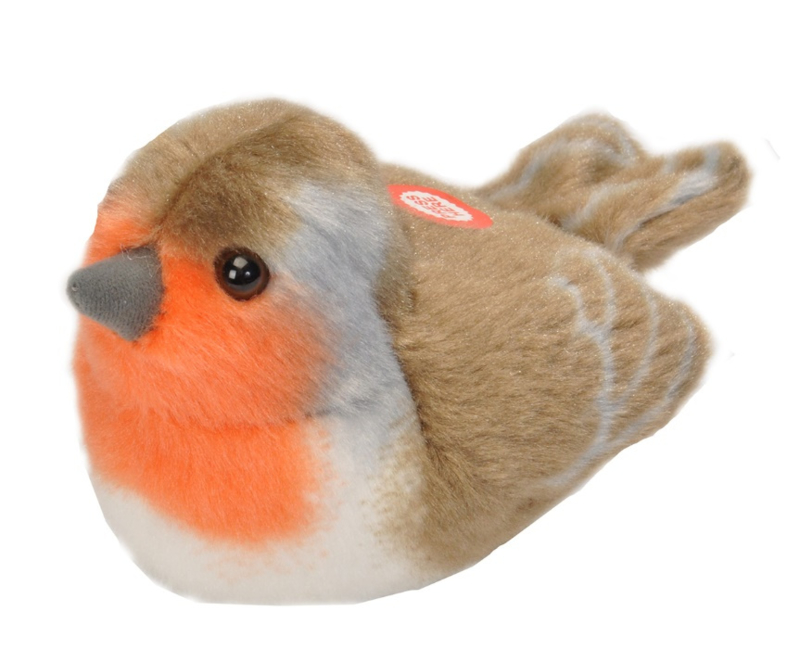 Trendzz-Vogels met geluid - Roodborst-European Robin-Red