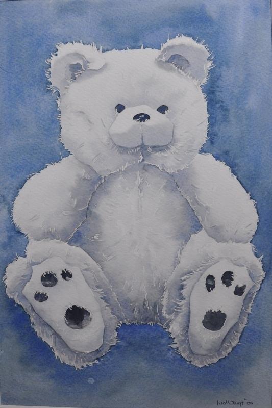 Zachte witte beer aquarelverf