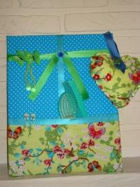Haarknipjesbord Aqua & Lime