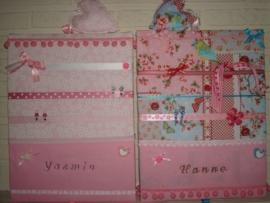 Haarknipjesbord roze bloemen