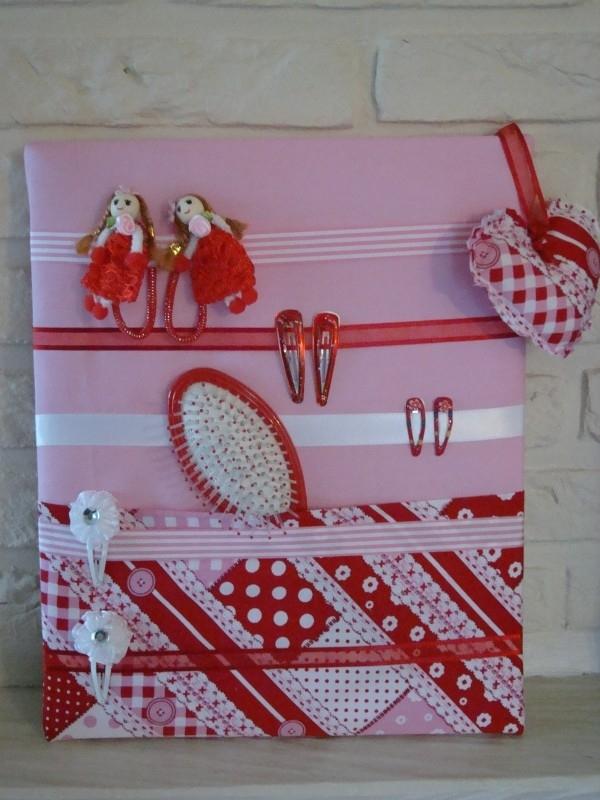 Haarknipjesbord Rood patchwork