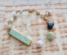 Gemstone bracelet Amazonite  | Gipsy Ibiza Armband