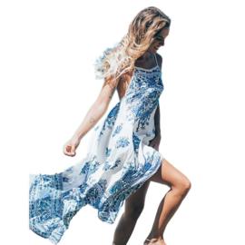 Boho festival dress white | Ibiza tuniek jurk