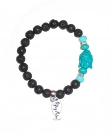 Blue Moon Black Lava | Ibiza Armband
