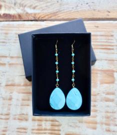Gipsy Ibiza Turquoise oorbellen |  Ibiza Oorbellen