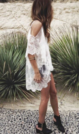 White beach lace dress | Ibiza strand jurk