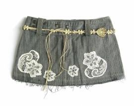 Wrecked Denim jeans skirt | rok mt 38