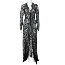 Ibiza jurk kant zwart | Ibiza tuniek  jurk