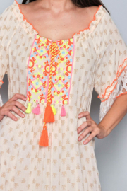 Playa d'en Bossa  Ibiza  jurk    Ibiza tuniek jurk creme