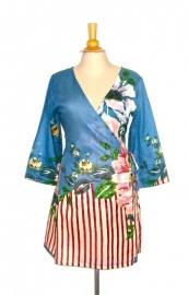 Haute Hippie blauw | Ibiza tuniek jurk