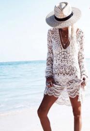 Lace crochet Ibiza white dress  | Ibiza tuniek kant
