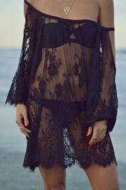 Black beach lace dress | Ibiza strand jurk