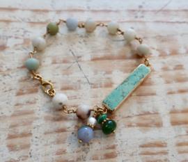 Gemstone bracelet |Amazonite  Gipsy Ibiza Armband