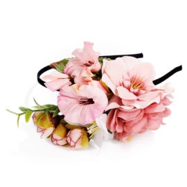 Bohemian Flower headband  rose   Ibiza Haarband
