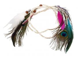 Hippie Headband feathers   Haarband