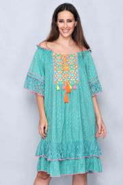 Playa d'en Bossa  Ibiza  jurk  | Ibiza tuniek jurk Azur