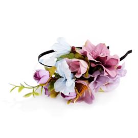 Bohemian Flower headband  lilac   Ibiza Haarband