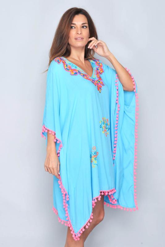 Santa Eulària  Ibiza  jurk  | Ibiza  kaftan turquoise